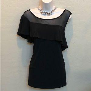 INC International Concepts Black Dress Top Size L
